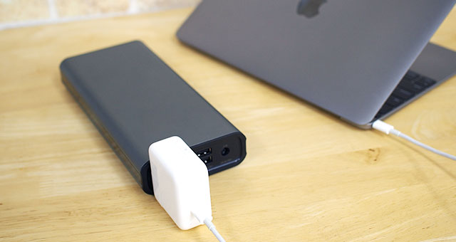 MacBookも問題なく充電