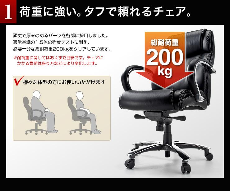 92f8581456 高耐荷重オフィスチェア(耐荷重200kg・レザー)150-SNC089の販売商品 ...