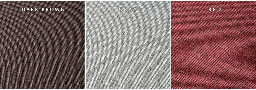 DARK BROWN GRAY RED