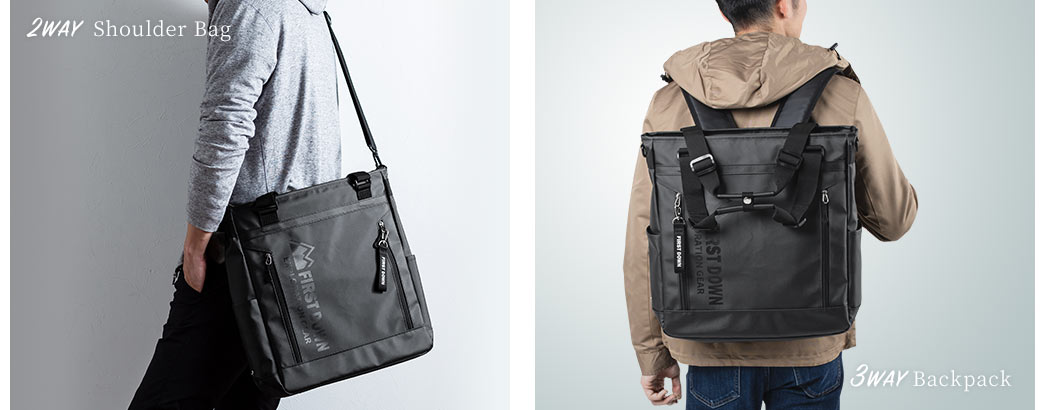 2WAY Shoulder Bag 3WAY Backpack