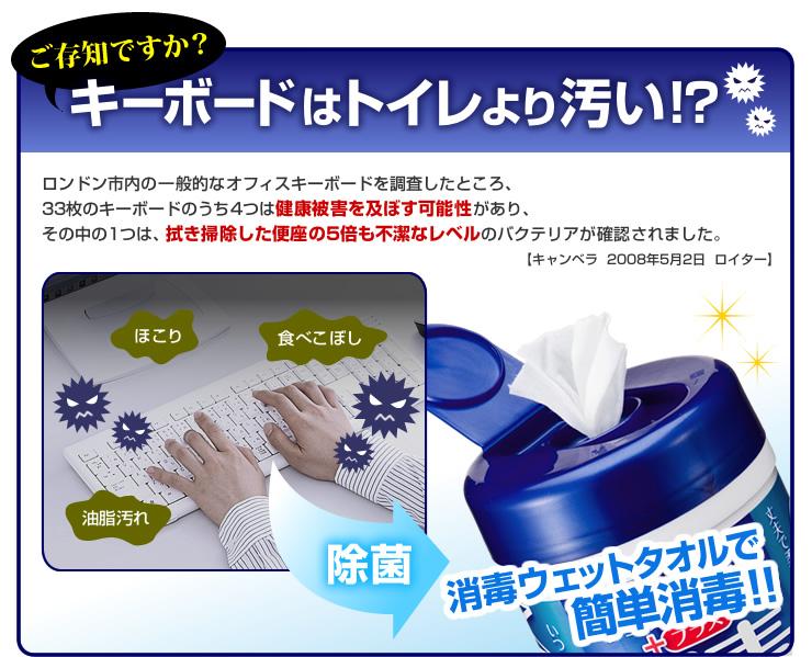 ご存知ですか?キーボードはトイレより汚い?