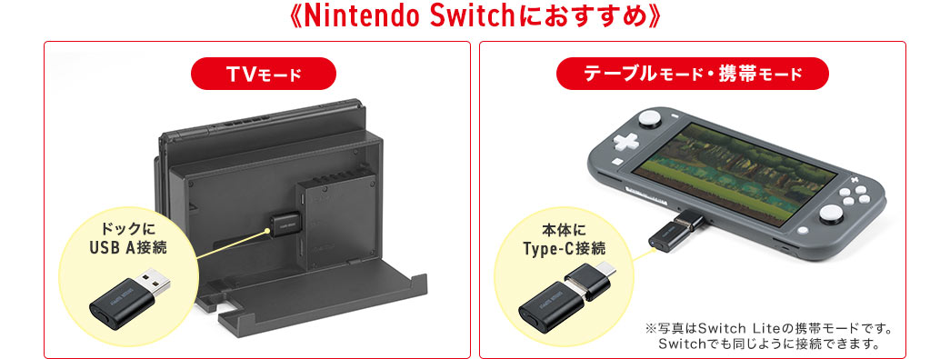 Nintendo Switchにおすすめ