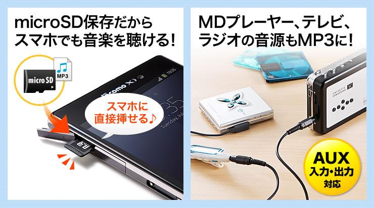 カセットテープ microSD変換プレ...