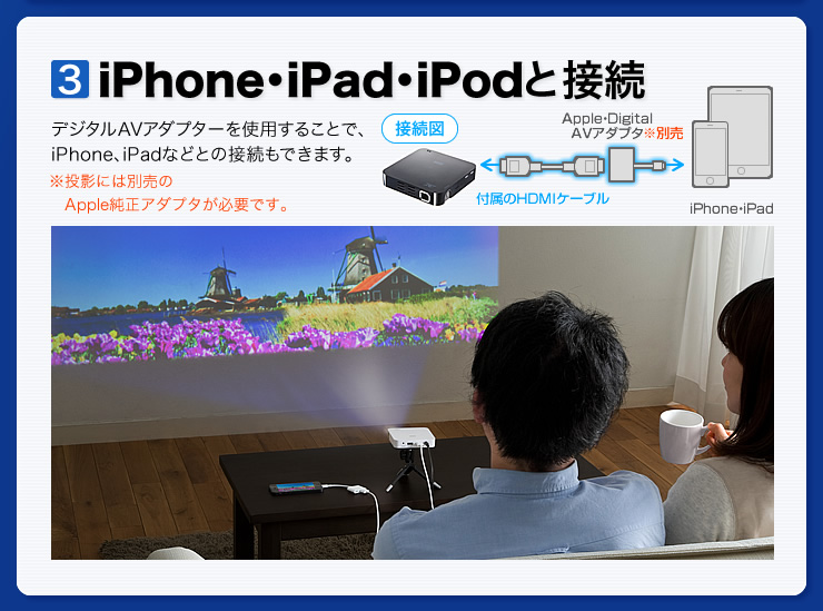 iPhone・iPad・iPodと接続