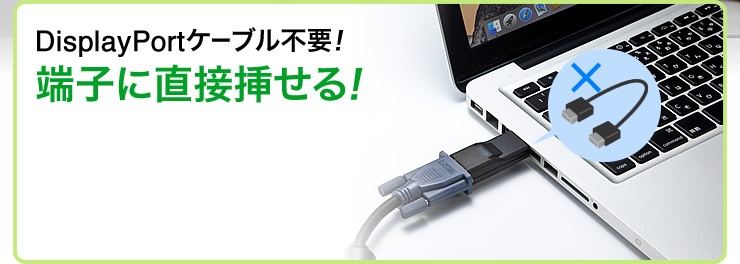 DisplayPortケーブル不要