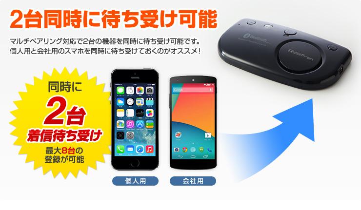 車載bluetoothハンズフリーキット iphone 6 5s スマートフォン 通話