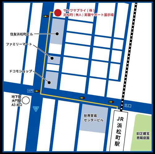 サポート展示場地図