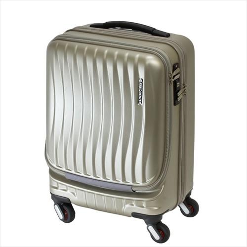 スーツケース(機内持ち込みサイズ・鍵付・ストッパー付・TSAロック・4輪キャリーケース・36L・シャンパンゴールド)