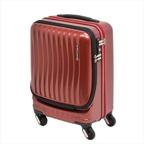 スーツケース(機内持ち込みサイズ・鍵付・ストッパー付・TSAロック・4輪キャリーケース・36L・ワインレッド)