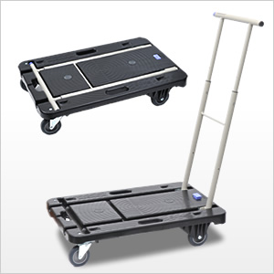 【クリックで詳細表示】2WAYキャリーカート(らくらくハンドル使用&大サイズ荷物用平台の2つの使い方) 100-CART003