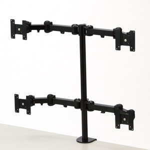 液晶モニターアーム(4画面設置タイプ・マルチモニター対応)