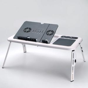 【クリックでお店のこの商品のページへ】【わけあり在庫処分】 ノートパソコン折りたたみテーブル(クーラーファン付) 100-MR017