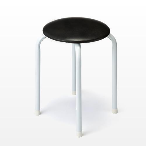 丸椅子(パイプ丸イス・ブラック) 150-SNC061BK1