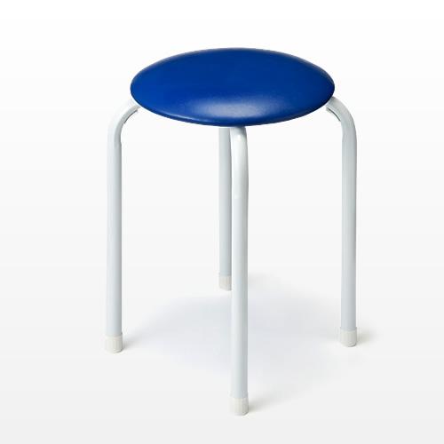 丸椅子(パイプ丸イス・ブルー)
