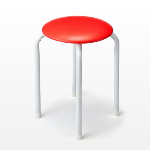 丸椅子(パイプ丸イス・レッド)