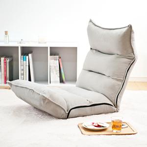サンワダイレクトゆったりくつろぎ座椅子(低反発ウレタン・14段階リクライニング・グレー)