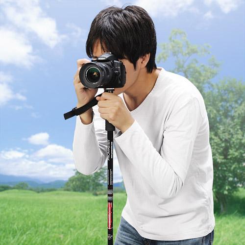 デジカメ・ビデオカメラ一脚(三段式 登山ストック機能付き)