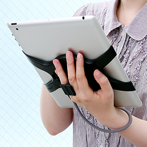 サンワダイレクト【わけあり在庫処分】 iPad2くるくるハンドル(ストラップ・スタンドパーツ付き)