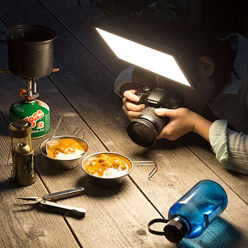 カメラ用LEDライトセット(パネル型・撮影用定常光ライト)