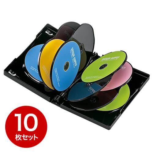 【10枚】DVDケース(10枚収納・トールケース・ブラック)