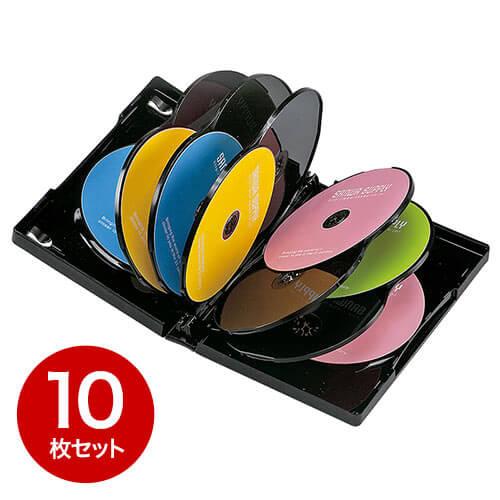 【10枚】DVDケース(12枚収納・トールケース・ブラック)