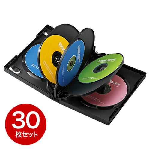 【30枚】DVDケース(8枚収納・トールケース・ブラック)