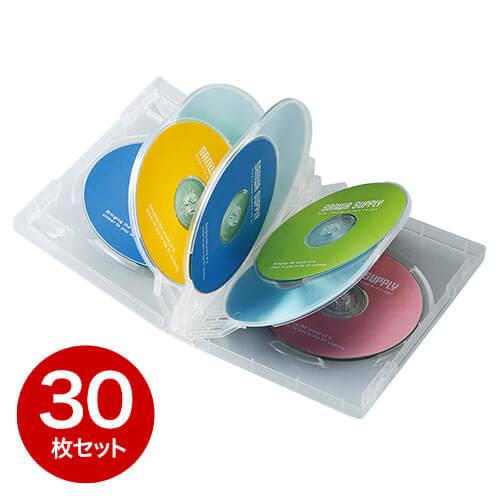 【30枚】DVDケース(8枚収納・トールケース・クリア)
