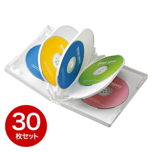 【30枚】DVDケース(8枚収納・トールケース・ホワイト)