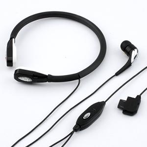 【クリックでお店のこの商品のページへ】声帯マイク式ハンズフリーヘッドホン 400-HS012