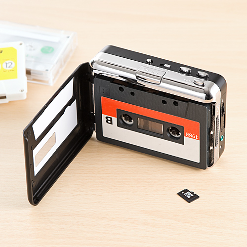 カセットテープmicroSD変換プレーヤー