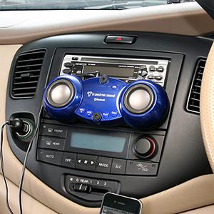 iPhone5・スマートフォンBluetooth車載スピーカー(ハンズフリー通話対応) 400-SP017