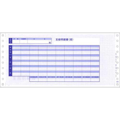 OBC(オービック) 6002 袋とじ支給明細書【返品不可】