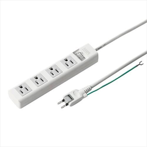 電源タップ(5m・4個口・3Pプラグ・一括スイッチ付き)