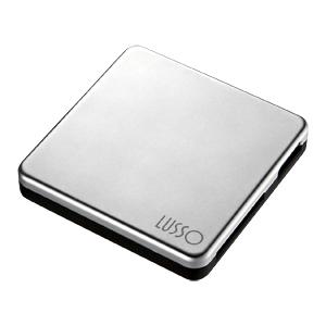 【クリックでお店のこの商品のページへ】【わけあり在庫処分】 LUSSO USB2.0カードリーダーライター (SD、MS対応・マットメッキシルバー) ADR-ML13MSV
