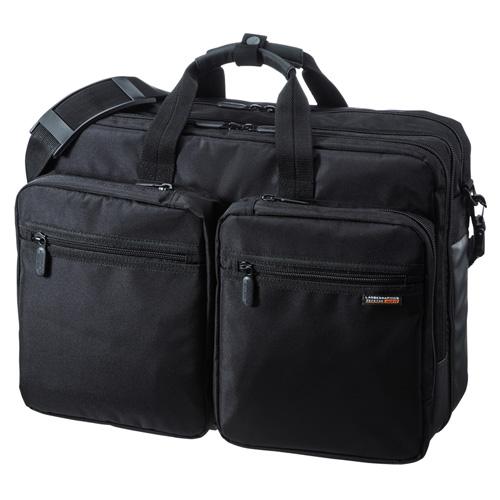 3WAYビジネスバッグ(15.6型ワイド・ダブル・出張用・大型・ブラック)