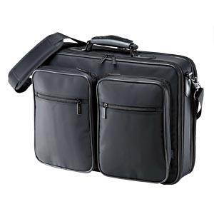 【クリックでお店のこの商品のページへ】PCキャリングバッグ(ダブル・15.4型ワイド対応) BAG-U17BKN