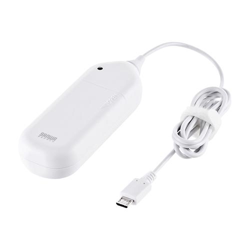 スマートフォン電池式充電器 ホワイト Btn Dc3mcwの販売商品 通販ならサンワダイレクト