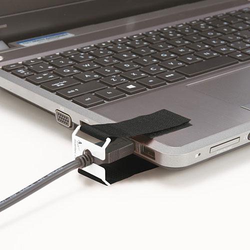 I/Oロックベルト(USBプラグ対応・抜け防止・面ファスナー取り付け)