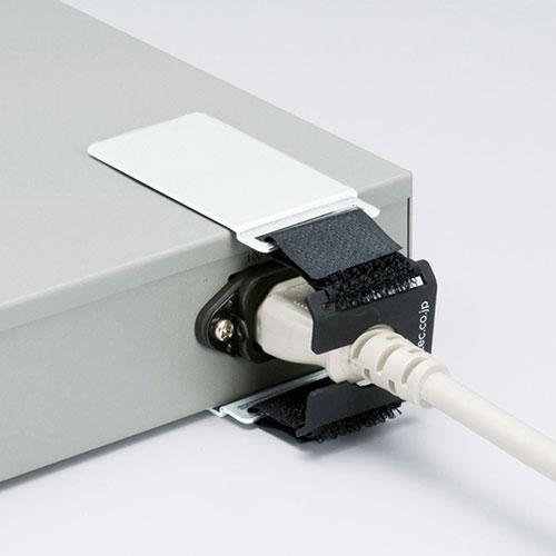 ACホールドロック-2(AC電源プラグ対応・抜け防止・面ファスナー取り付け)