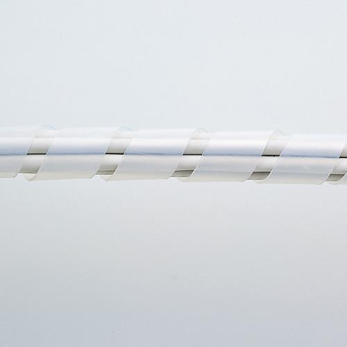ケーブルタイ(スパイラル・2m巻き・内寸直径15mm・ホワイト)