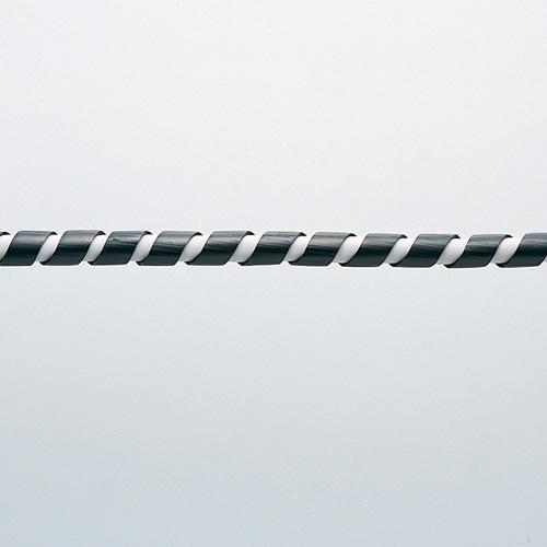 ケーブルタイ(スパイラル・2m巻き・内寸直径4mm・ブラック)