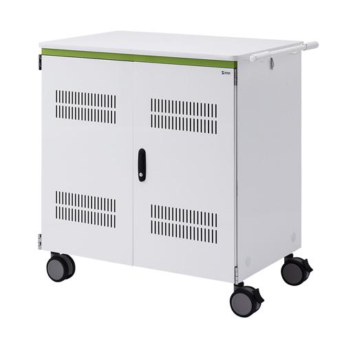 タブレット収納保管庫(12.9インチ対応・44台収納・前後扉仕様・ホワイト)