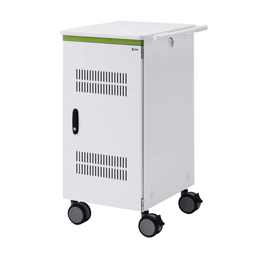 【期間限定価格】タブレット収納保管庫(12.9インチ対応・標準22台収納・前扉仕様・ホワイト)