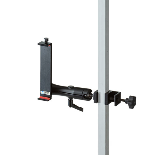 支柱取り付け用タブレットホルダー(2関節・アルミ製)