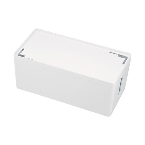 アウトレット:ケーブル&タップ収納ボックス(Mサイズ・ホワイト)
