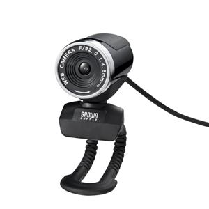 サンワダイレクト【わけあり在庫処分】フルHD対応 WEBカメラ(1080p対応・ブラック)