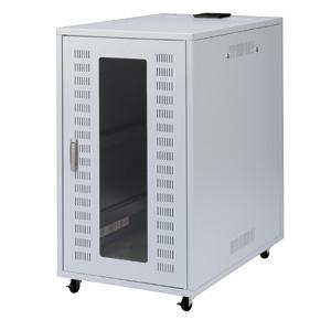 【クリックで詳細表示】19インチマウントボックス鍵付き・静音ファン仕様(18U・W570×D900×H1000mm) CP-5SKPL