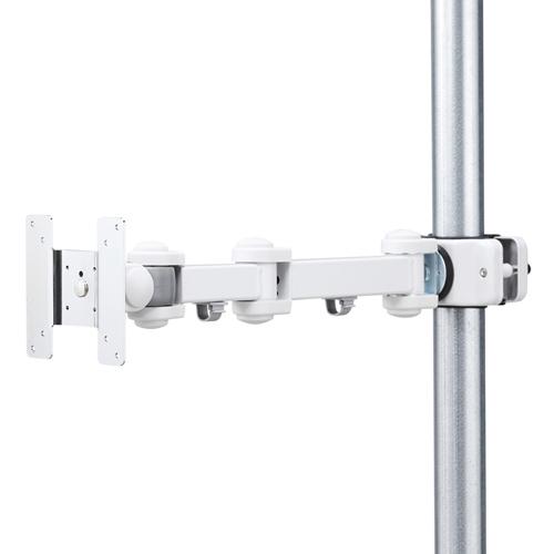 モニターアーム(ポール取付け・VESA規格・75×75mm・100×100mm対応・4関節)