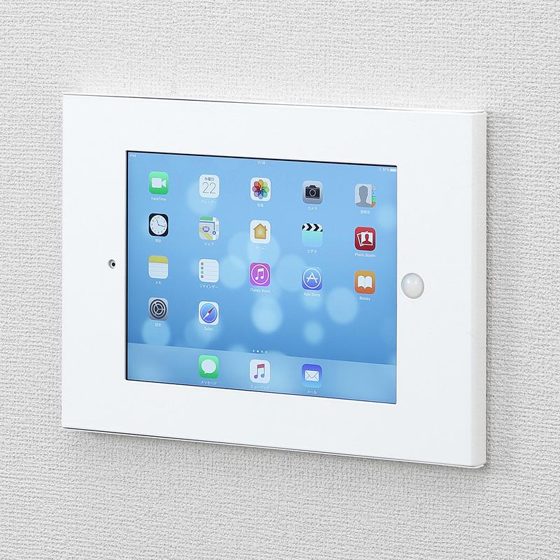 iPad VESA対応ボックス(iPad第2?第4世代・iPad Air・Air2・9.7インチiPad Pro・9.7インチ iPad(2017)) サンワダイレクト サンワサプライ CR-LAIPAD12W