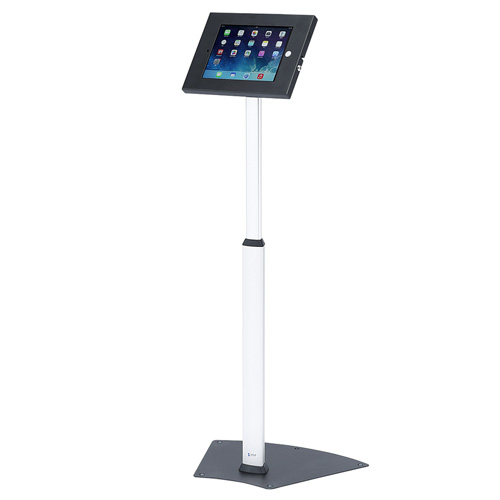 iPadフロアスタンド(高さ調整対応・セキュリティボックス付き)